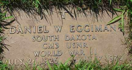 EGGIMAN, DANIEL W. - Minnehaha County, South Dakota | DANIEL W. EGGIMAN - South Dakota Gravestone Photos