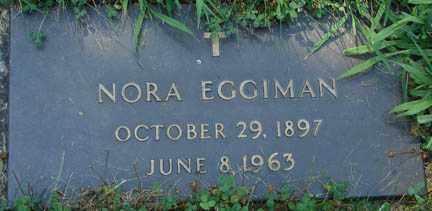 EGGIMAN, NORA - Minnehaha County, South Dakota   NORA EGGIMAN - South Dakota Gravestone Photos