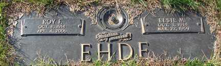 EHDE, ROY E. - Minnehaha County, South Dakota | ROY E. EHDE - South Dakota Gravestone Photos