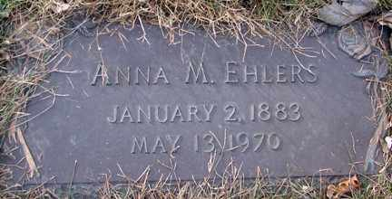 EHLERS, ANNA M. - Minnehaha County, South Dakota | ANNA M. EHLERS - South Dakota Gravestone Photos