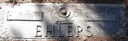 EHLERS, CLAUS - Minnehaha County, South Dakota | CLAUS EHLERS - South Dakota Gravestone Photos