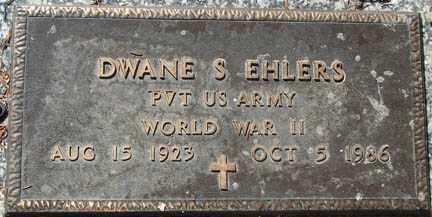 EHLERS, DWANE S. - Minnehaha County, South Dakota | DWANE S. EHLERS - South Dakota Gravestone Photos