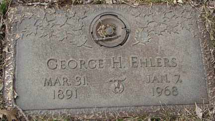 EHLERS, GEORGE H. - Minnehaha County, South Dakota | GEORGE H. EHLERS - South Dakota Gravestone Photos