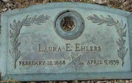 EHLERS, LAURA E. - Minnehaha County, South Dakota | LAURA E. EHLERS - South Dakota Gravestone Photos