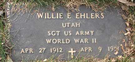EHLERS, WILLIE E. (WWII) - Minnehaha County, South Dakota | WILLIE E. (WWII) EHLERS - South Dakota Gravestone Photos