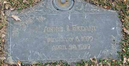 EKDAHL, ANNIE I. - Minnehaha County, South Dakota   ANNIE I. EKDAHL - South Dakota Gravestone Photos