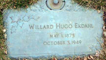 EKDAHL, WILLARD HUGO - Minnehaha County, South Dakota | WILLARD HUGO EKDAHL - South Dakota Gravestone Photos