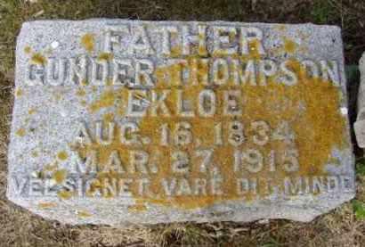 EKLOE, GUNDER THOMPSON - Minnehaha County, South Dakota | GUNDER THOMPSON EKLOE - South Dakota Gravestone Photos