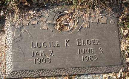 ELDER, LUCILE K. - Minnehaha County, South Dakota | LUCILE K. ELDER - South Dakota Gravestone Photos