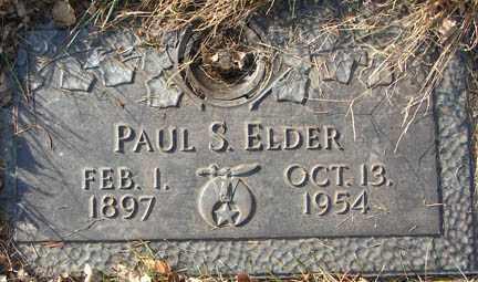 ELDER, PAUL S. - Minnehaha County, South Dakota | PAUL S. ELDER - South Dakota Gravestone Photos