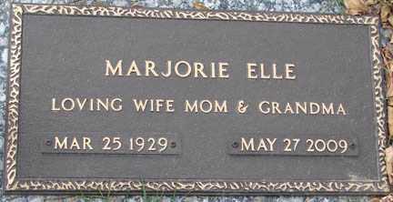 ELLE, MARJORIE - Minnehaha County, South Dakota | MARJORIE ELLE - South Dakota Gravestone Photos