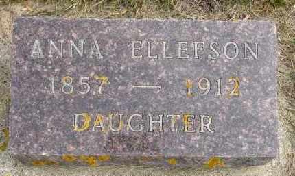 ELLEFSON, ANNA - Minnehaha County, South Dakota | ANNA ELLEFSON - South Dakota Gravestone Photos
