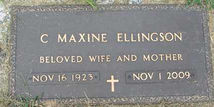ELLINGSON, C. MAXINE - Minnehaha County, South Dakota | C. MAXINE ELLINGSON - South Dakota Gravestone Photos