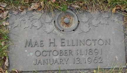 ELLINGTON, MAE H. - Minnehaha County, South Dakota   MAE H. ELLINGTON - South Dakota Gravestone Photos