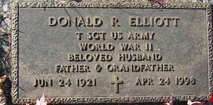ELLIOTT, DONALD R. - Minnehaha County, South Dakota   DONALD R. ELLIOTT - South Dakota Gravestone Photos
