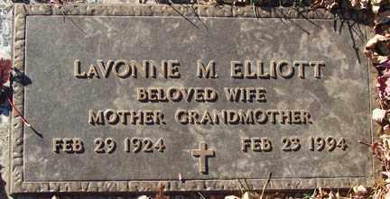 ELLIOTT, LA VONNE M. - Minnehaha County, South Dakota | LA VONNE M. ELLIOTT - South Dakota Gravestone Photos