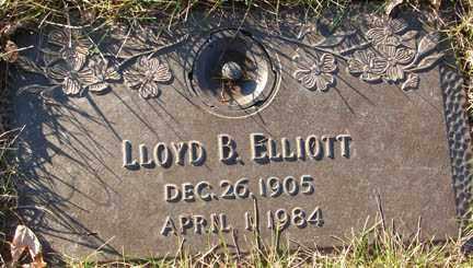 ELLIOTT, LLOYD B. - Minnehaha County, South Dakota | LLOYD B. ELLIOTT - South Dakota Gravestone Photos