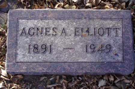 ELLIOTT, AGNES A. - Minnehaha County, South Dakota | AGNES A. ELLIOTT - South Dakota Gravestone Photos
