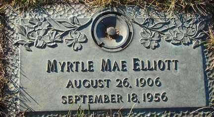 ELLIOTT, MYRTLE MAE - Minnehaha County, South Dakota | MYRTLE MAE ELLIOTT - South Dakota Gravestone Photos