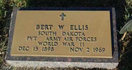 ELLIS, BERT W. (WW II) - Minnehaha County, South Dakota   BERT W. (WW II) ELLIS - South Dakota Gravestone Photos