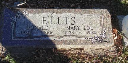 ELLIS, DONALD - Minnehaha County, South Dakota | DONALD ELLIS - South Dakota Gravestone Photos