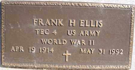 ELLIS, FRANK H (WWII) - Minnehaha County, South Dakota | FRANK H (WWII) ELLIS - South Dakota Gravestone Photos