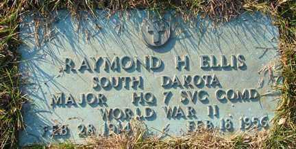 ELLIS, RAYMOND H. - Minnehaha County, South Dakota | RAYMOND H. ELLIS - South Dakota Gravestone Photos
