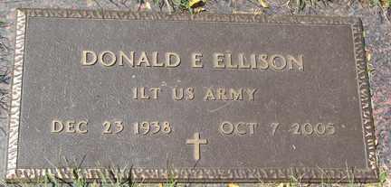 ELLISON, DONALD E. - Minnehaha County, South Dakota   DONALD E. ELLISON - South Dakota Gravestone Photos