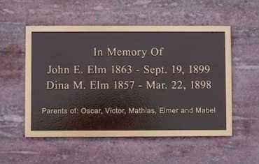 ELM, DINA M - Minnehaha County, South Dakota | DINA M ELM - South Dakota Gravestone Photos