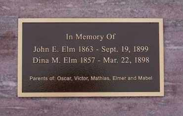 ELM, JOHN E - Minnehaha County, South Dakota | JOHN E ELM - South Dakota Gravestone Photos