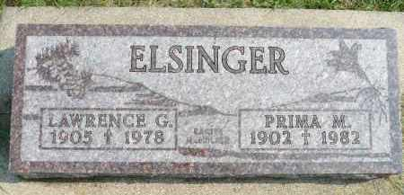 GINSBACH ELSINGER, PRIMA M. - Minnehaha County, South Dakota | PRIMA M. GINSBACH ELSINGER - South Dakota Gravestone Photos