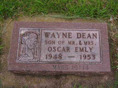 EMLY, WAYNE DEAN - Minnehaha County, South Dakota | WAYNE DEAN EMLY - South Dakota Gravestone Photos