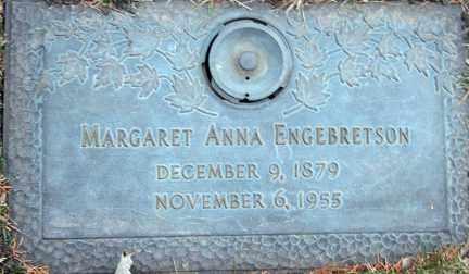 ENGEBRETSON, MARGARET ANN - Minnehaha County, South Dakota | MARGARET ANN ENGEBRETSON - South Dakota Gravestone Photos