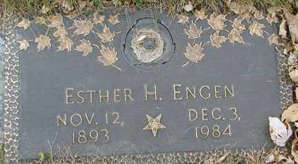 ENGEN, ESTHER H. - Minnehaha County, South Dakota | ESTHER H. ENGEN - South Dakota Gravestone Photos