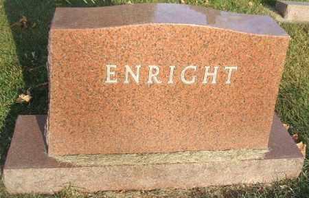 ENRIGHT, FAMILY STONE - Minnehaha County, South Dakota | FAMILY STONE ENRIGHT - South Dakota Gravestone Photos