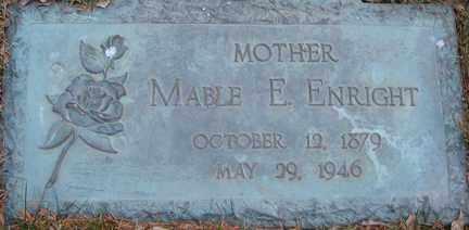 ENRIGHT, MABLE E. - Minnehaha County, South Dakota   MABLE E. ENRIGHT - South Dakota Gravestone Photos