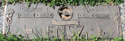 ENSZ, CLARA S. - Minnehaha County, South Dakota | CLARA S. ENSZ - South Dakota Gravestone Photos