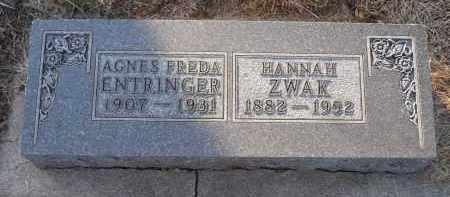 ENTRINGER, AGNES FREDA - Minnehaha County, South Dakota | AGNES FREDA ENTRINGER - South Dakota Gravestone Photos