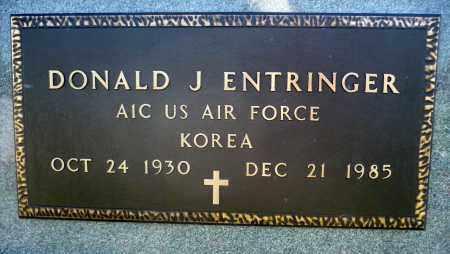 ENTRINGER, DONALD J. (KOREA) - Minnehaha County, South Dakota | DONALD J. (KOREA) ENTRINGER - South Dakota Gravestone Photos