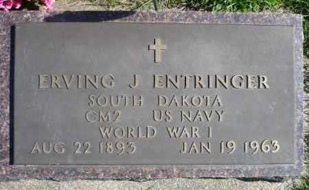 ENTRINGER, ERVING J. (WWI) - Minnehaha County, South Dakota | ERVING J. (WWI) ENTRINGER - South Dakota Gravestone Photos