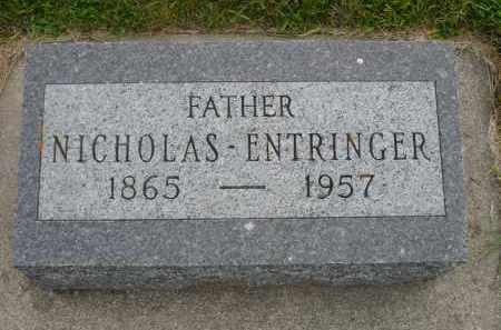 ENTRINGER, NICHOLAS - Minnehaha County, South Dakota | NICHOLAS ENTRINGER - South Dakota Gravestone Photos