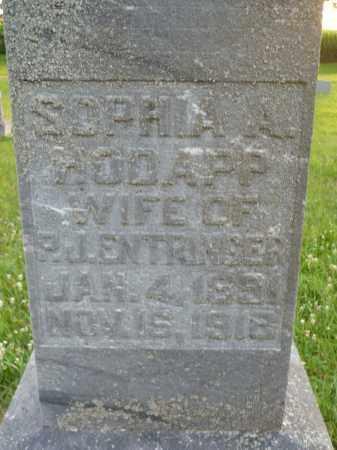ENTRINGER, SOPHIA A. (CLOSE UP) - Minnehaha County, South Dakota   SOPHIA A. (CLOSE UP) ENTRINGER - South Dakota Gravestone Photos