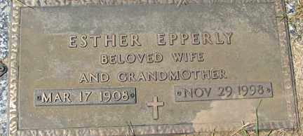 EPPERLY, ESTHER - Minnehaha County, South Dakota | ESTHER EPPERLY - South Dakota Gravestone Photos