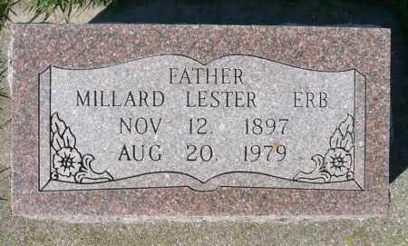 ERB, MILLARD LESTER - Minnehaha County, South Dakota   MILLARD LESTER ERB - South Dakota Gravestone Photos