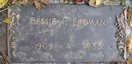ERDMAN, BESSIE F. - Minnehaha County, South Dakota | BESSIE F. ERDMAN - South Dakota Gravestone Photos
