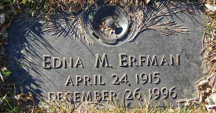 ERFMAN, EDNA M. - Minnehaha County, South Dakota | EDNA M. ERFMAN - South Dakota Gravestone Photos