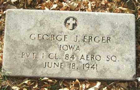 ERGER, GEORGE J. - Minnehaha County, South Dakota | GEORGE J. ERGER - South Dakota Gravestone Photos