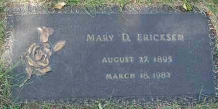 ERICKSEN, MARY D. - Minnehaha County, South Dakota | MARY D. ERICKSEN - South Dakota Gravestone Photos