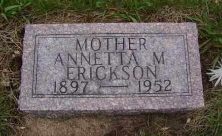 ERICKSON, ANNETTA M. - Minnehaha County, South Dakota | ANNETTA M. ERICKSON - South Dakota Gravestone Photos