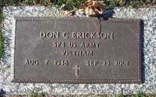 ERICKSON, DON C. - Minnehaha County, South Dakota   DON C. ERICKSON - South Dakota Gravestone Photos